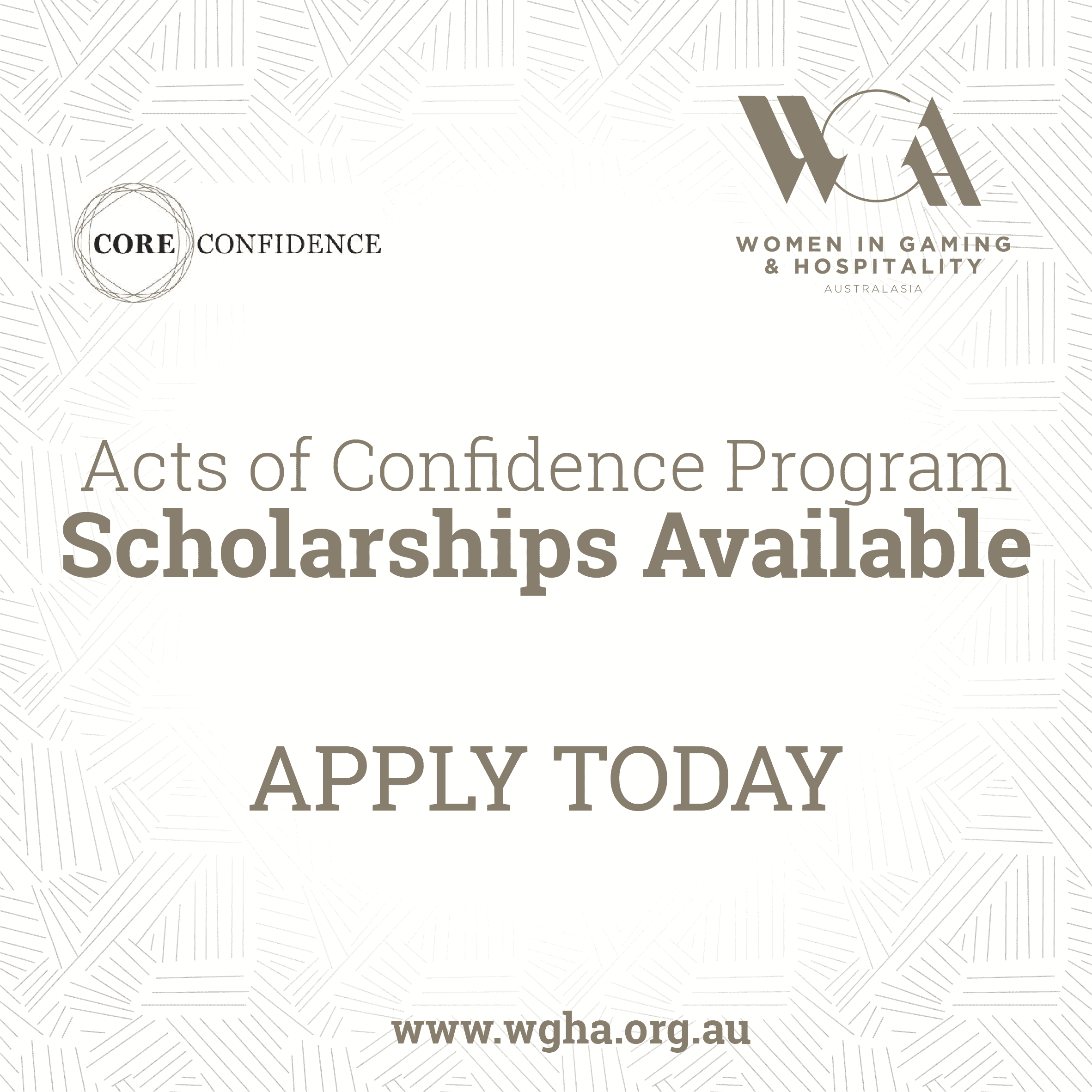 Scholarship - Acts of Confidence Program